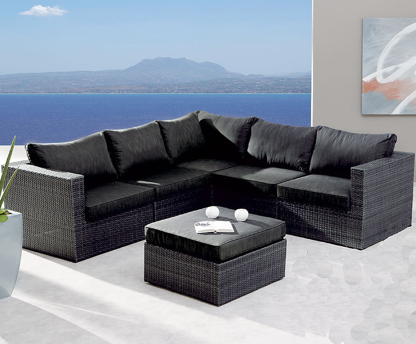 best 6tlg lounge set aruba alu polyrattan 98896053 art. Black Bedroom Furniture Sets. Home Design Ideas