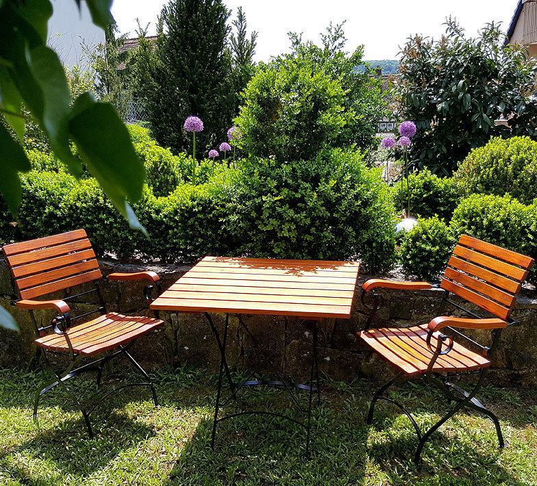 Awo Balkonmobel Set Lord 3tlg 2 Sessel Tisch 80x80 Art Jardin