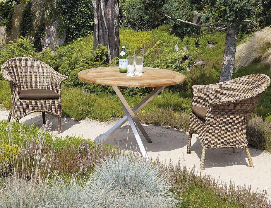5 tlg set cayman nature mix 2 sessel kissen tisch art jardin. Black Bedroom Furniture Sets. Home Design Ideas