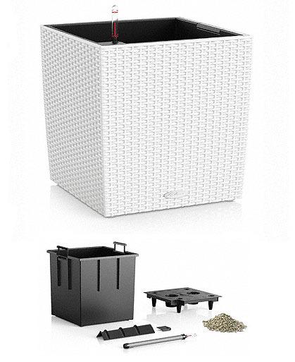 Lechuza pflanzgef cube cottage 30 wei 15376 design for Design blumentopf