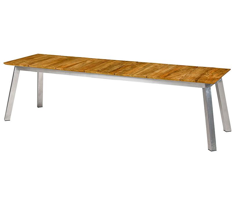 zebra sport bank 185cm linax 7281 edelstahl old teak. Black Bedroom Furniture Sets. Home Design Ideas