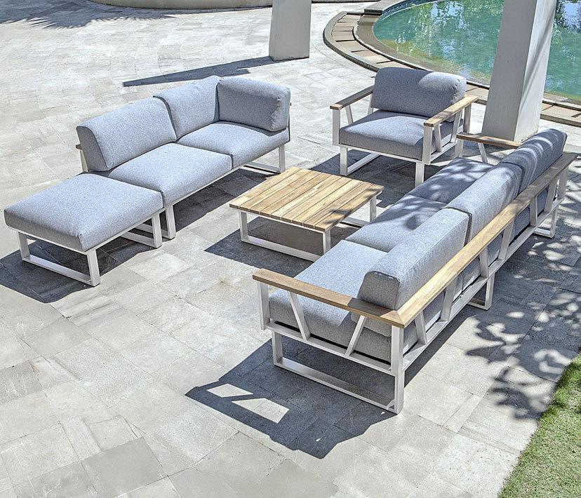 zebra edelstahl lounge sessel belvedere 3360 kissen art jardin. Black Bedroom Furniture Sets. Home Design Ideas
