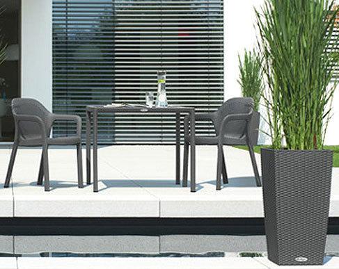 lechuza 3tlg design balkonset cottage 2 sessel + tisch- artjardin, Gartenarbeit ideen