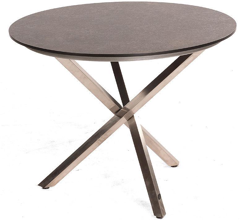 Sonnenpartner Tisch 1m Rund Base Compact Edelstahl Hpl Artjardin