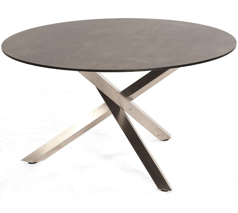 Sonnenpartner Tisch D134cm Base Compact Edelstahl HPL Esstisch rund
