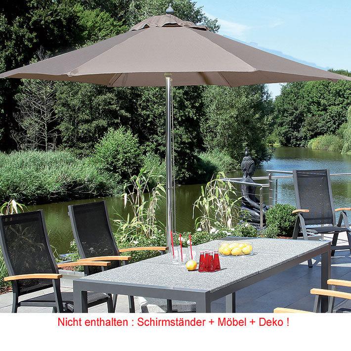 sonnenpartner sonnenschirm newcastle alu d 3m schirm art jardin. Black Bedroom Furniture Sets. Home Design Ideas