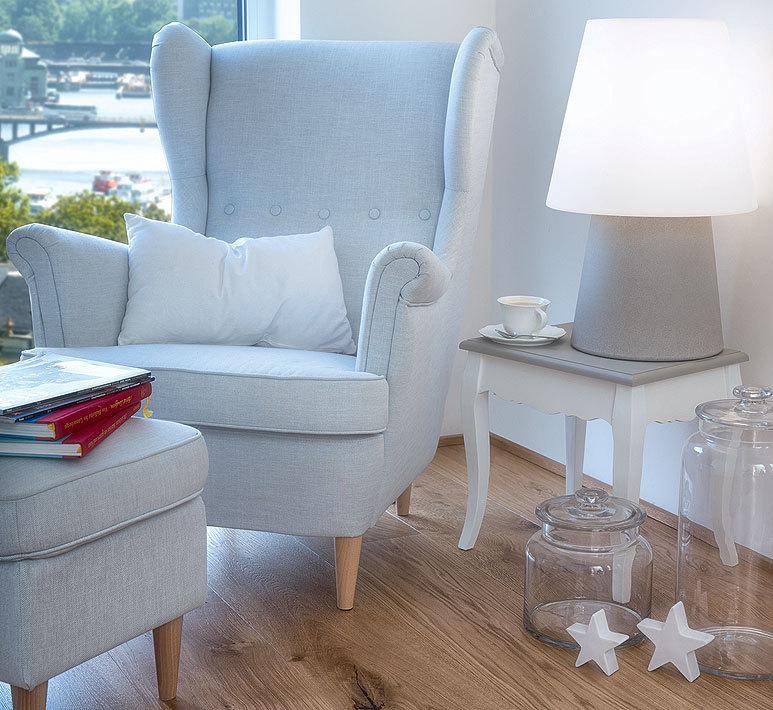 8seasons tischleuchte no 1 wei 60cm wohn au enleuchte artjardin. Black Bedroom Furniture Sets. Home Design Ideas