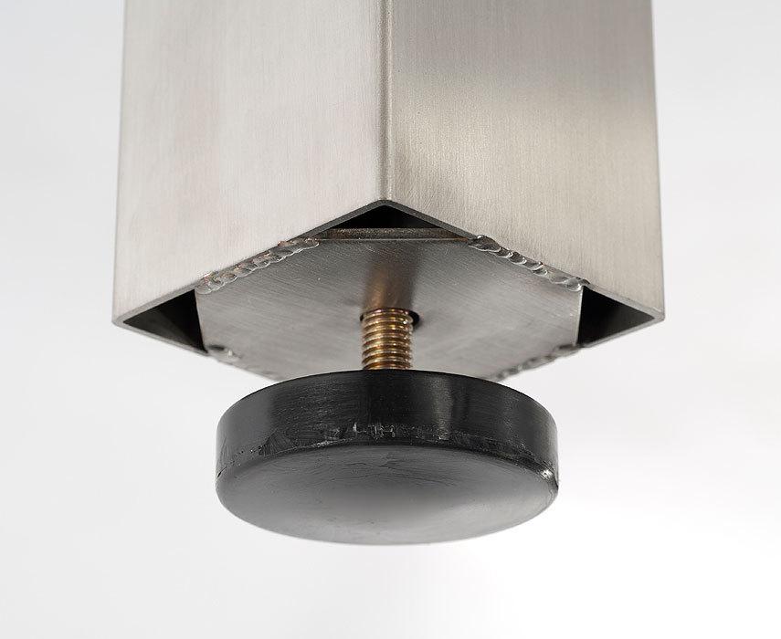 Sonnenpartner edelstahl tisch base 2x1m tipla compact art for Design tisch edelstahl