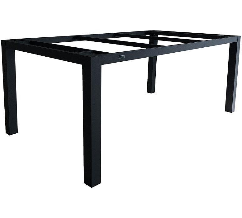 Zebra Tisch Gestell 160x90cm Alus 6224 Esstisch Design Aluminium graphit f.  HPL Laminat Tischplatten