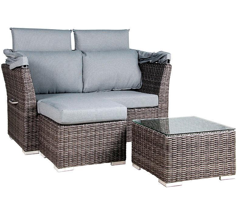 Lounge sofa 2 sitzer outdoor  Zebra Jack Lounge Junior Glasplatte 5292 nur für Hocker 55x55cm ...
