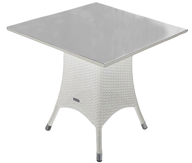 zebra tisch 70x70cm mary esstisch alu polyrattan glas art jardin. Black Bedroom Furniture Sets. Home Design Ideas