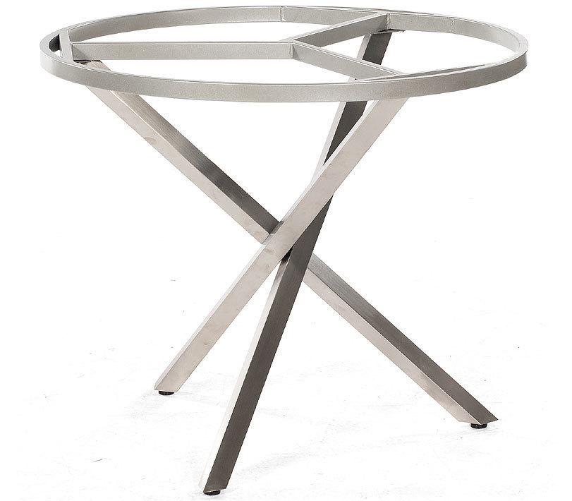 sonnenpartner tisch rund base edelstahl old teak sun artjardin. Black Bedroom Furniture Sets. Home Design Ideas
