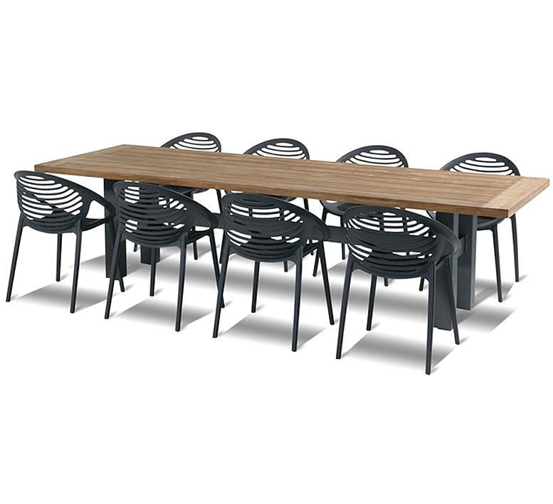 Hartman 9tlg Set 8 Sessel Romeo + Yasmani Tisch 2,4x1m- ArtJardin