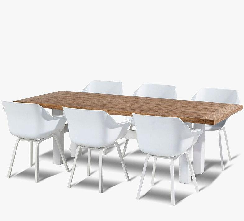 hartman 7er set sophie tisch yasmani 180x90 alu teak artjardin. Black Bedroom Furniture Sets. Home Design Ideas