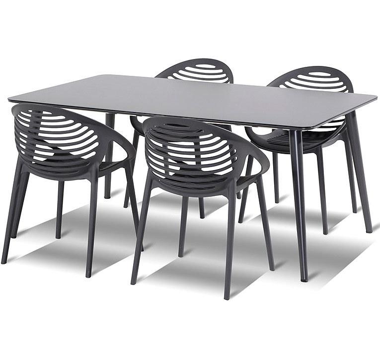 Hartman 5tlgSet Romeo xerix + HPL Tisch Sophie 170x100- ArtJardin