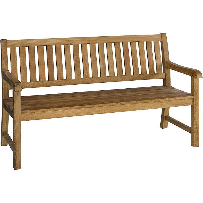 Zebra 3 Sitzer Teak Bank 150cm Lexington 2506 Teakholz Sitzbank Landhaus Gartenbank Massiv Holz