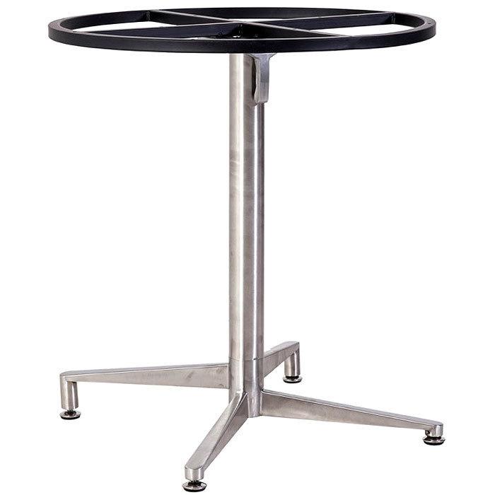 Tischgestell Für Runde Tischplatte.Mbm Tischgestell Bistro 76 00 0027 Edelstahl Tischfuß Abklappbar Für Runde Tischplatten Ohne Platte