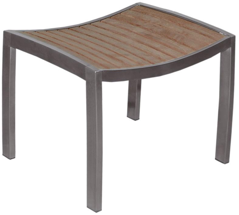 hocker sydney mbm edelstahl tigerwood teak art jardin. Black Bedroom Furniture Sets. Home Design Ideas