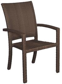 MBM Stapel Sessel Bellini 68.00.0102 Gartenmöbel Aluminium + Polyrattan  Mocca Gartenstuhl Stapelbar