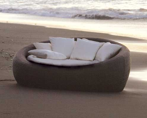 MBM Lounge Rondell Fino Mocca 68.00.0173 Gartenmöbel - Art Jardin