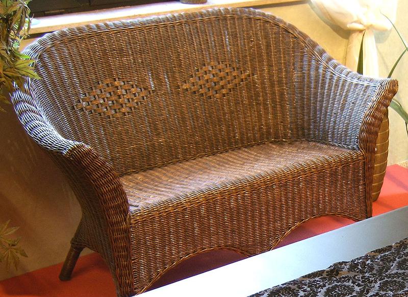 rattan sitzgruppe 2 tlg peddigrohr sessel 2er sofa art jardin. Black Bedroom Furniture Sets. Home Design Ideas