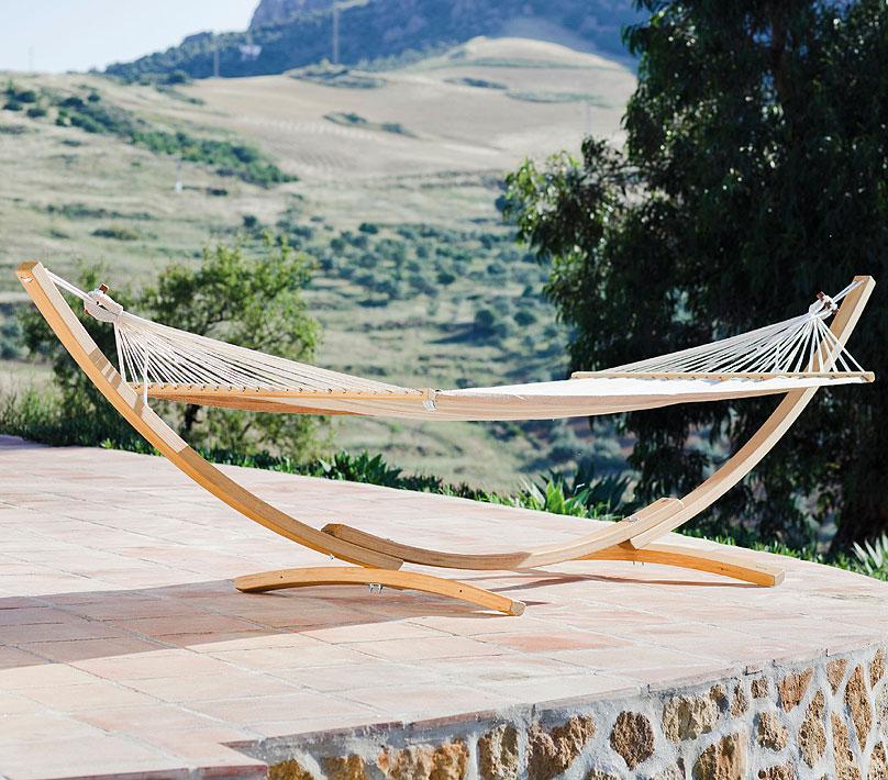 jobek h ngematten holzgestell tres arc 11099 fsc natur. Black Bedroom Furniture Sets. Home Design Ideas