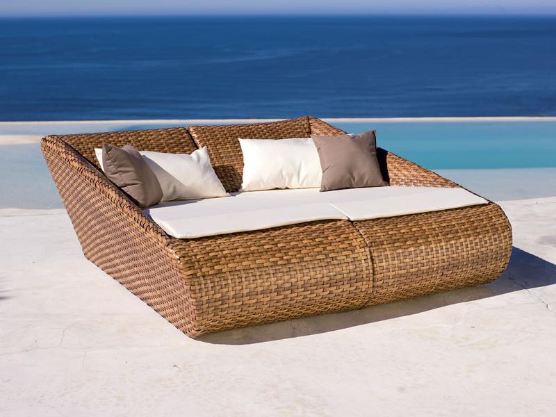 MBM Liege Relax Lounge rechts 254.357 Mirotex tobacco- Art Jardin
