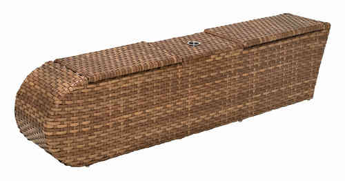 MBM Relax Lounge Console 269.879 Mittelmodul Polyrattan Mirotex tobacco