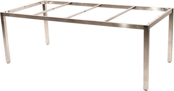 Zebra Ess Tisch Gestell 210x100cm Opus 6561 Edelstahl- Art