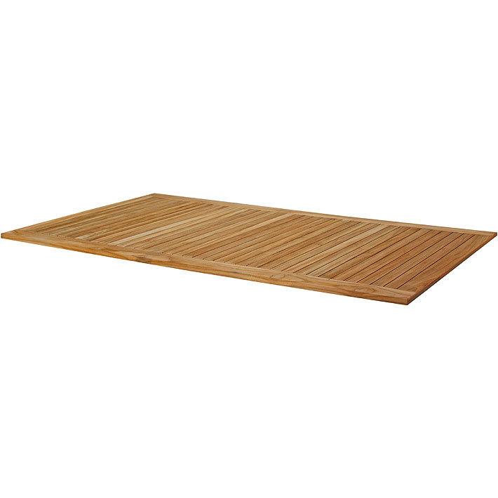 Zebra Teak Holz Tischplatte 210x100cm 6571 Zubehör für Tisch Gestelle Opus + Tektus + Corpus + Alus