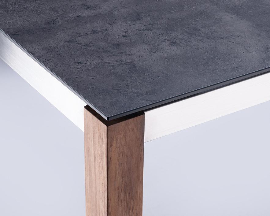 Zebra Kunststoff HP Laminat Tischplatte 210x100cm Sela 6479 beton dunkel f. Gestell Opus Corpus Alus
