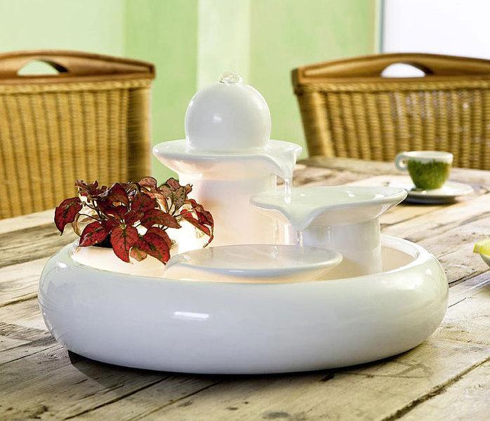 Seliger zimmerbrunnen locarno keramik brunnen in3farb art jardin - Zimmerbrunnen modern ...