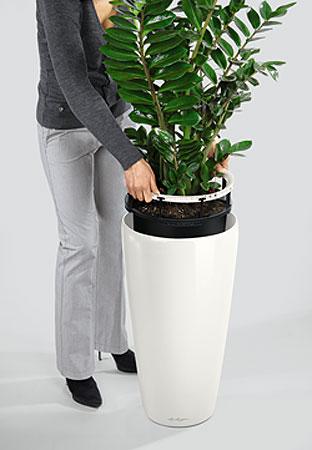 Lechuza Pflanzgefäß RONDO 32 Komplettset Blumenkübel - Art Jardin