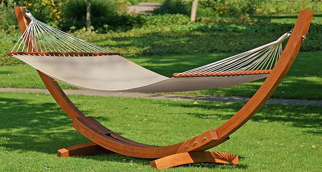 stern stab h ngematte deluxe 447908 uni natur 130x240 art jardin. Black Bedroom Furniture Sets. Home Design Ideas