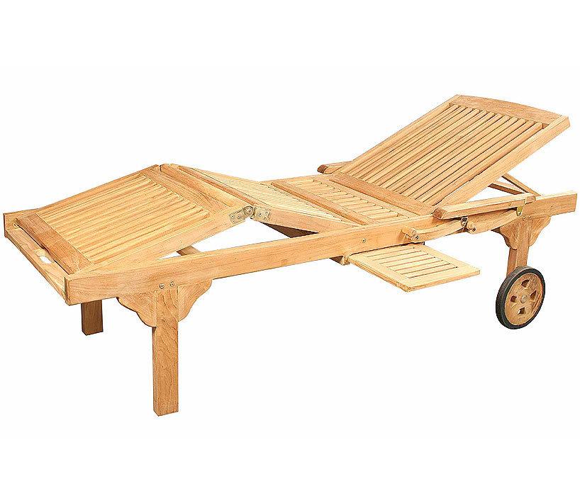 Zebra Roll Liege Mentor 2625-S Teak Holz Gartenmöbel - Art Jardin