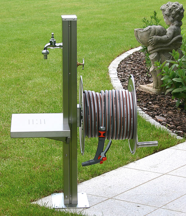 Heibi wasserstelle 53242 072 edelstahl zapfstelle art jardin for Edelstahl gartendeko
