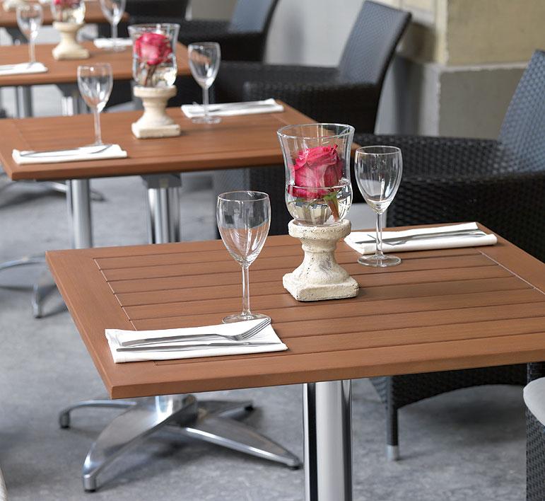 mbm bistro tisch platte resysta eckig 75x75 burma siam. Black Bedroom Furniture Sets. Home Design Ideas