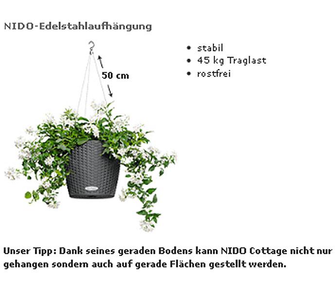 lechuza h ngeampel pflanzgef nido cottage komplettset. Black Bedroom Furniture Sets. Home Design Ideas