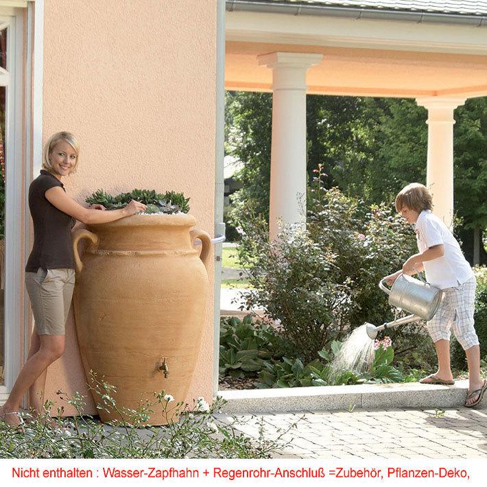 graf regentonne antik wand amphore 260l fa in3farben art jardin. Black Bedroom Furniture Sets. Home Design Ideas
