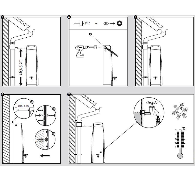 graf regenwasser wandtank elegance 400l art jardin. Black Bedroom Furniture Sets. Home Design Ideas