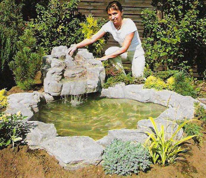 Felsdekor gartenteich anlage silbermond 14121 granit art - Gartenteich abdeckung ...