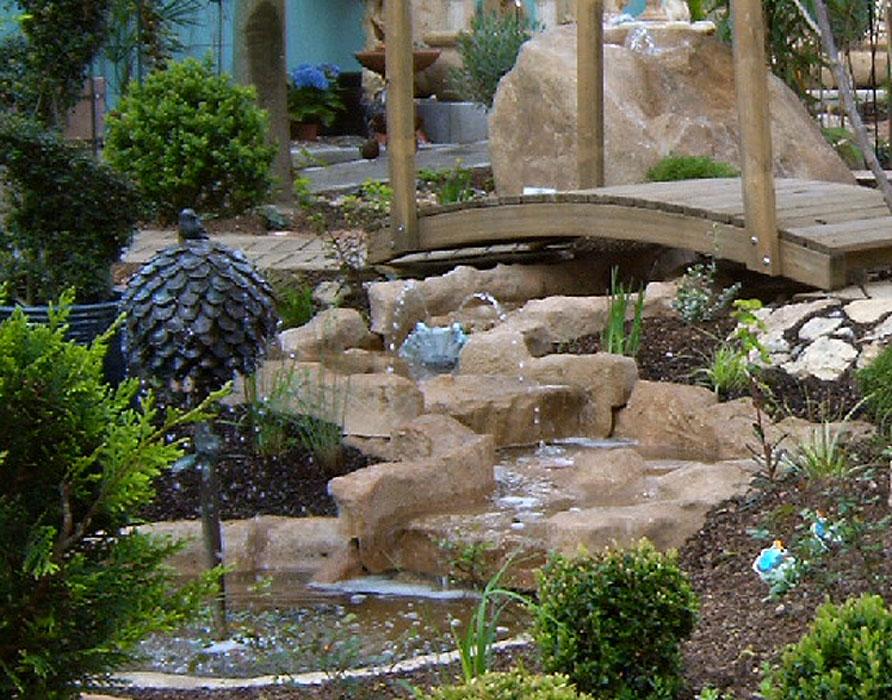 Felsdekor 10-tlg Gartenteich Anlage Bachlauf groß sand- ArtJardin