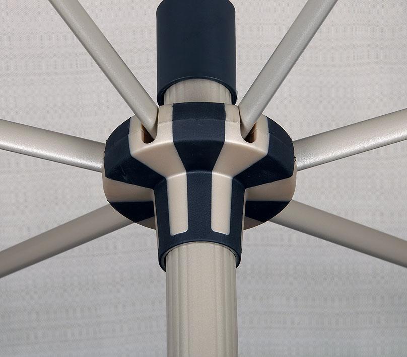 knirps kurbel sonnenschirm oasis automatic rund 250cm art. Black Bedroom Furniture Sets. Home Design Ideas