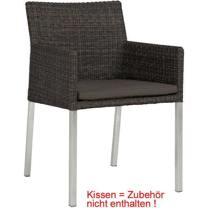 Zebra Sessel Kubex 7503 schilf Polyrattan Gartenmöbel- Art Jardin