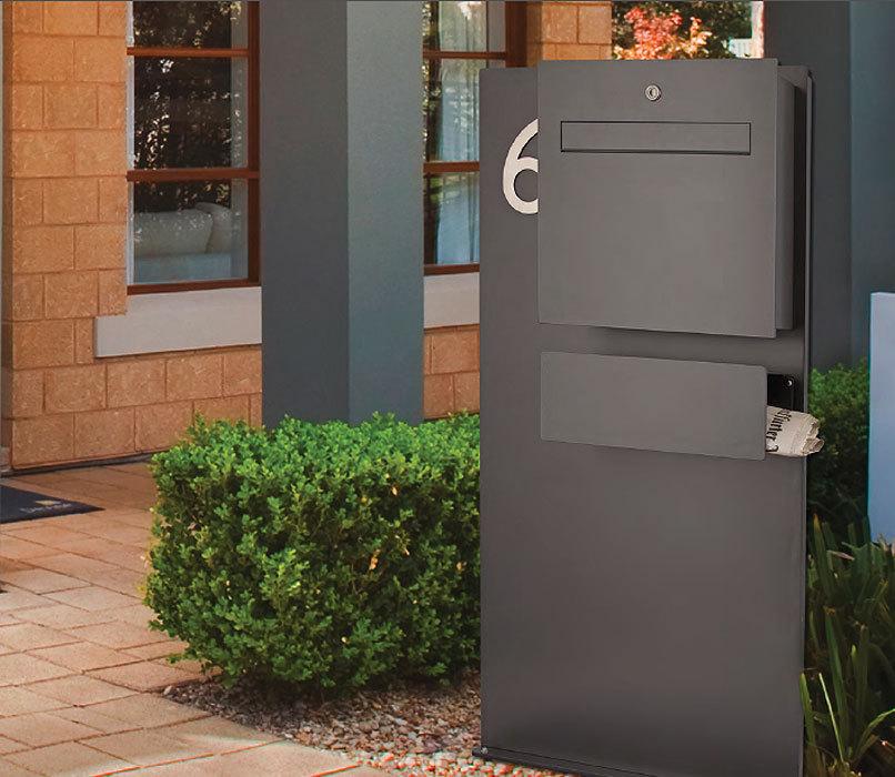 heibi briefkasten scatalux 64489 039 grafitgrau aluminium design postkasten art jardin. Black Bedroom Furniture Sets. Home Design Ideas