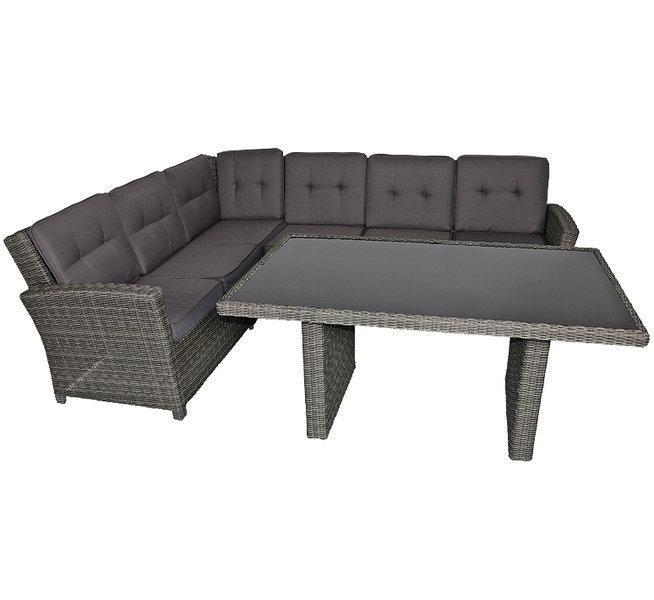 Lesli Living Polyrattan Lounge Set + Tisch Jazz deluxe- ArtJardin