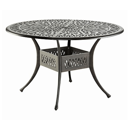 Hartman Amalfi Tisch, Bronze aus Alu Guss, antik, Ø120cm