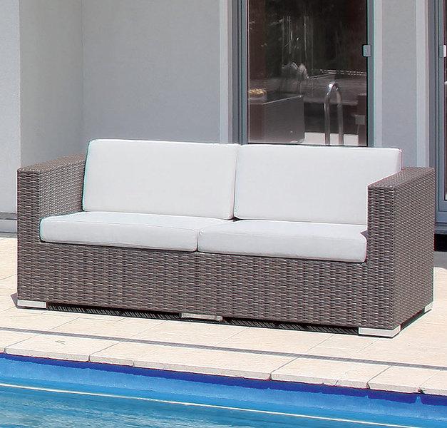 Sonnenpartner 3 Sitze Lounge Sofa Residence Polyrattan Cappuccino Design System Gartenmobel 80070961