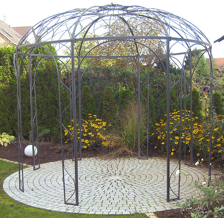 siena garden pavillon capanema 3m rund laube art jardin. Black Bedroom Furniture Sets. Home Design Ideas