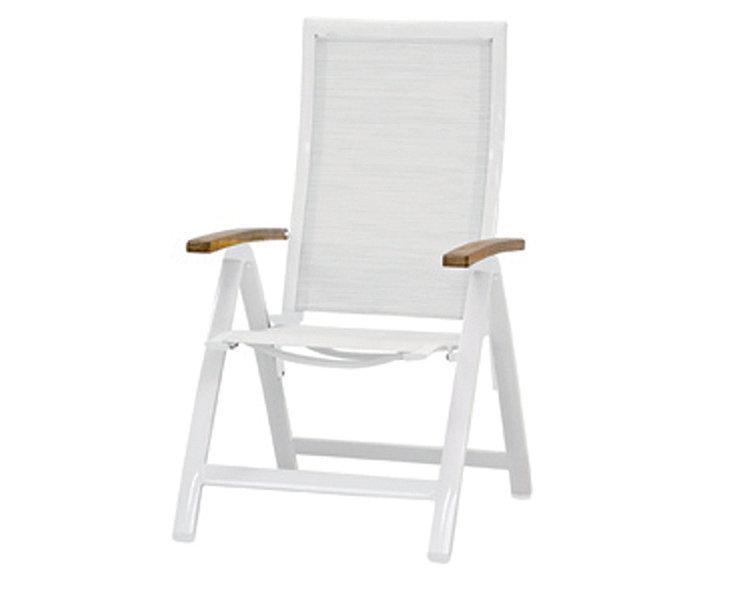 Queen´s Garden Klapp Sessel Amazonas Alu Weiß 721248 Hochlehner Gartenstuhl